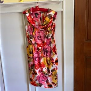 Charming AGN floral fitted dress, with pocket! 10